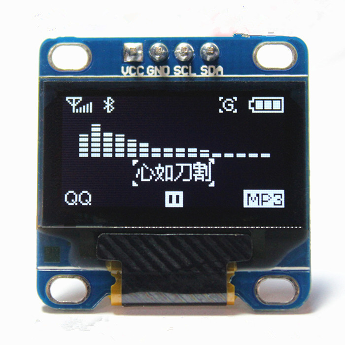 "0,96 Zoll Iic Serien Weiß Oled-display-modul 128x64 I2c Ssd1306 12864 Lcd-bildschirm Bord Gnd Vcc Scl Sda 0,96 ""für Arduino"