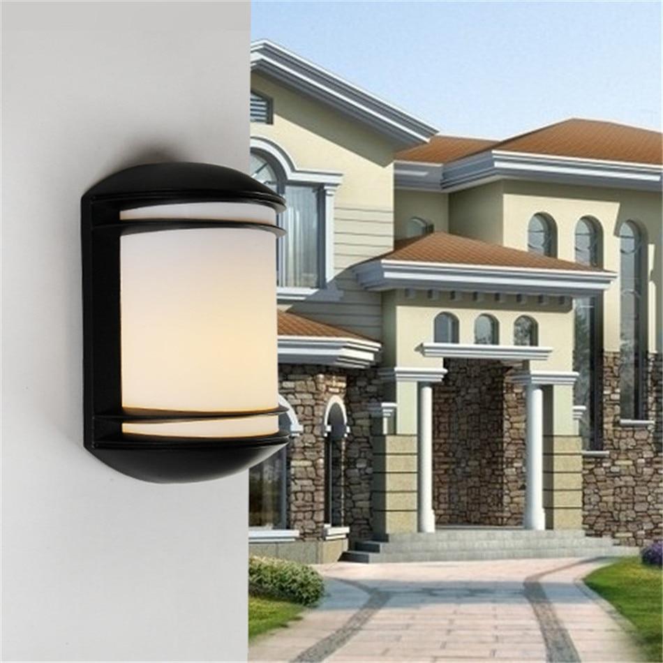 ФОТО 1X Modern Aluminium Outdoor Low Energy LED Garden Wall Porch Light Lamp,Metal Body+ PC Lampshade, AC110/220V Garden Wall Light