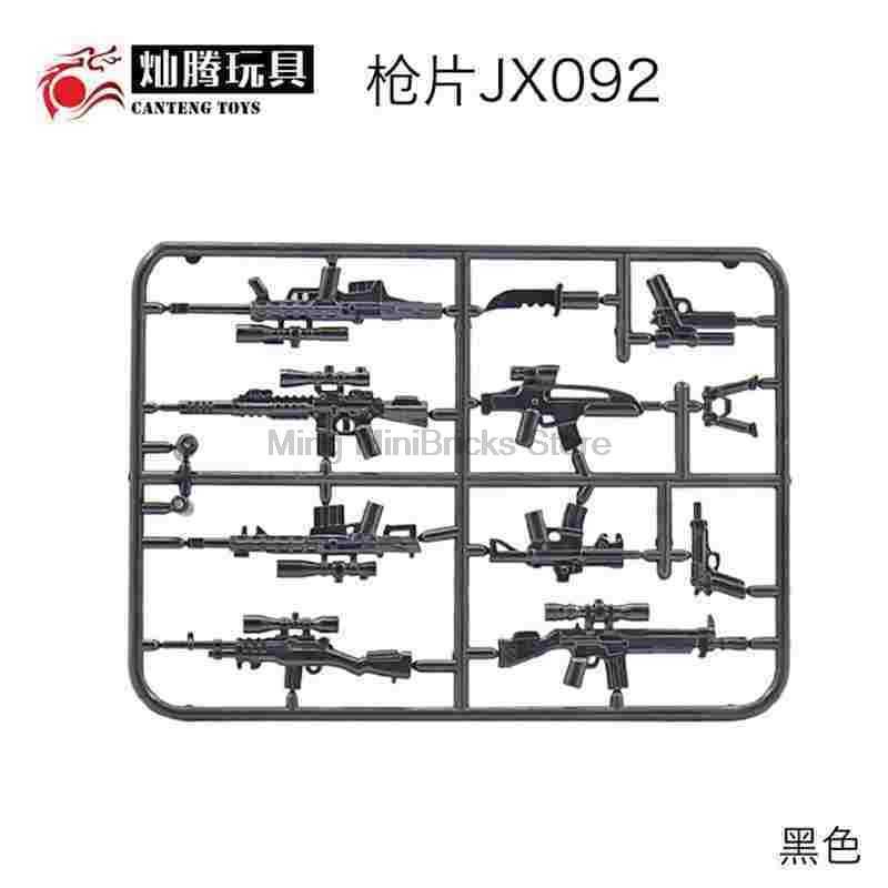 Mengunci WW2 SWAT Senjata Militer AK74U UMP45 Senapan Mesin Ringan Pistol Kecil Blok Bangunan Model Bahan Keselamatan Anak-anak Mainan Hadiah