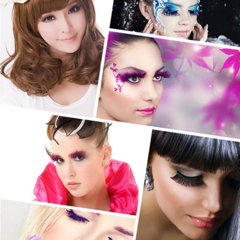 5 Pairs Natural Eye Lashes Makeup Handmade Thick Fake Cross Make Up Beauty False Eyelashes WD in False Eyelashes from Beauty Health