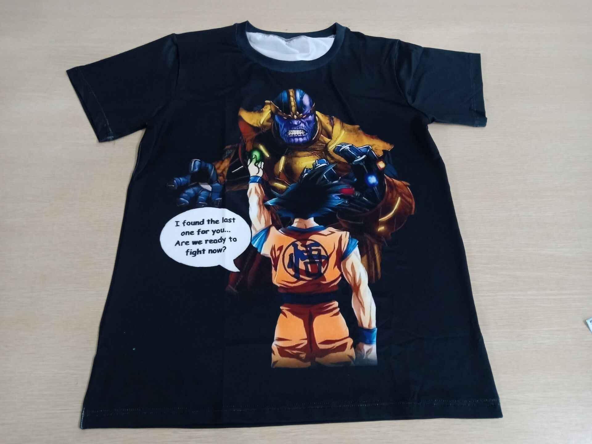 Облако 3D футболка Для мужчин танос Dragon Ball и super Goku 3D с полной запечаткой, креативная смешная футболка летний топ уличная мода