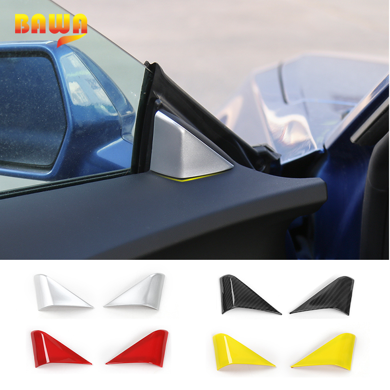 HANGUP ABS Car A pillar Window Triangle Decoration Cover Interior Sticker Accessories For Chevrolet Camaro 2017 Up Car Styling