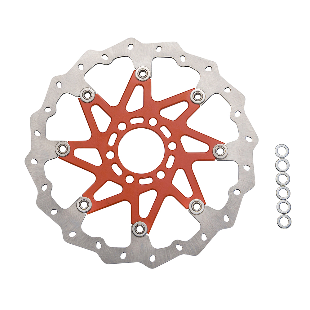 Orange Aluminium WAVE BRAKE DISC FRONT Fit for KTM 125 200 390 ABS DUKE 2013-2016 free shipping aluminium wave motorcycle accessories front brake disc rotor disk for ktm 125 200 390 duke 2013 2014