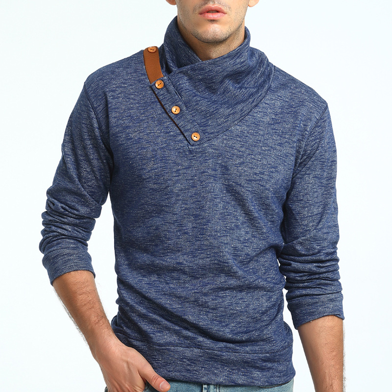European and American fashion collar knitted sweater slim size sweater coat