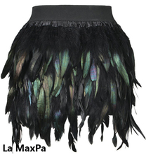 Girls baby fur coat Hallowee cloth skirt Swan Feather Skirt Fully Feather Skirt for Party Event