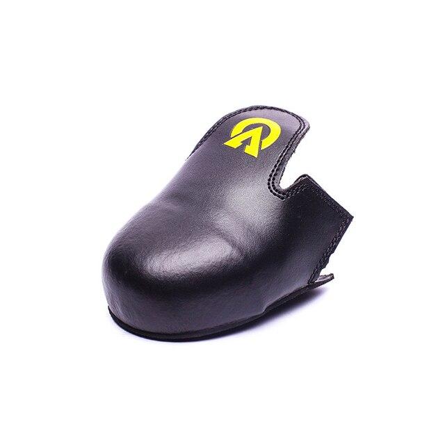 Кожа Стальным Носком Анти-Разбив Анти-Скольжения Портативная Рабочая Защитная Обувь Крышка