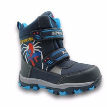 Apakowa mid-calf bungee lacing kids snow boots waterproof bo
