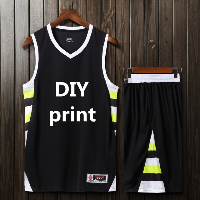 757a89c23 2018 New Adult Personalized Basketball jersey set Men s youth sports  Training Clothing Basketball Uniforms shorts DIY printing