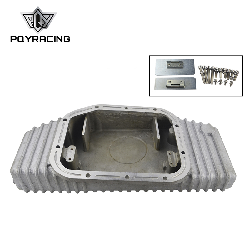 PQY RACING-pour S13 S14 S15 SR20DET SR20 180SX 200SX 240SX SILVIA SIL 80 TURBO carter d'huile en aluminium (convient: Nissan) PQY-OP49