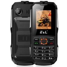 """Оригинальный EL k6900 Quad Band IP68 Телефон 1.77 """"Водонепроницаемый 0.3mp сзади Камера Dual SIM карты мобильного телефона 2000 мАч фонарик разблокировки"""
