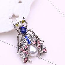 insect brooch pin jewelry brooches for women cute pins metal broche rhinestone lapel men