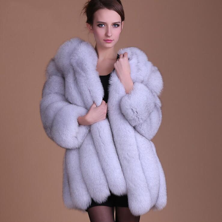 Veste Argent Femmes Femelle Manteau Blanc De bleu Plus rose D'hiver La Noir bourgogne fuchsia blanc Faux Cardigan Taille Fourrure noir Ciel Long pu Épais Rose Hiver Automne gris w6AnUTxYT