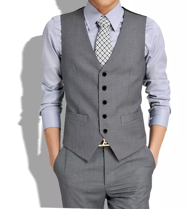 Free Shiping 2018 New Mens Suits Vest Male Casual Slim Vest Pant Set (vest+pant)  Plus Size XXXL  Korean Men's Casual Sui