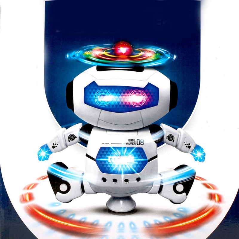 360 Rotating Dance Robot Electronic Smart Space Walking Toy With Music Light For Kids Astronaut Hobby Christmas Birthday Gift