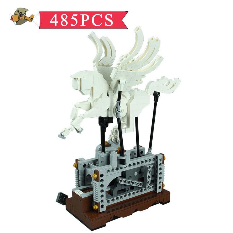 Model Building Blocks Toy Technic the Pegasus Automaton Mechanical Flying Horse set DIY Classic Children Building Bricks Toys