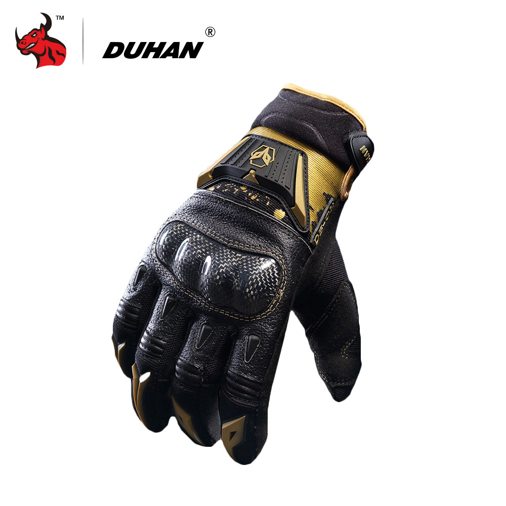 Best motorcycle gloves nz - Duhan Men S Motorcycle Gloves Genuine Goat Skin Carbon Fiber Riding Gloves Motorcycle Full Finger Gloves Luvas