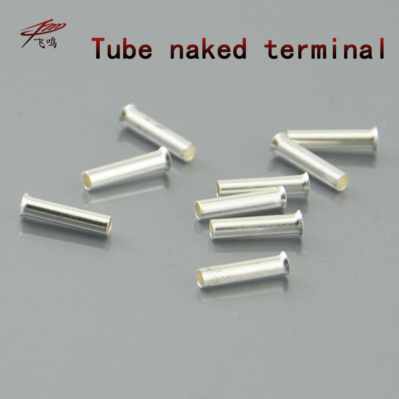 2000PCS EN0506 Tube Naked Terminal Bootlace Cooper Ferrules kit set Wire Copper Crimp Connector Insulated Cord Pin End Terminal 800pcs cable bootlace copper ferrules kit set wire electrical crimp connector insulated cord pin end terminal hand repair kit
