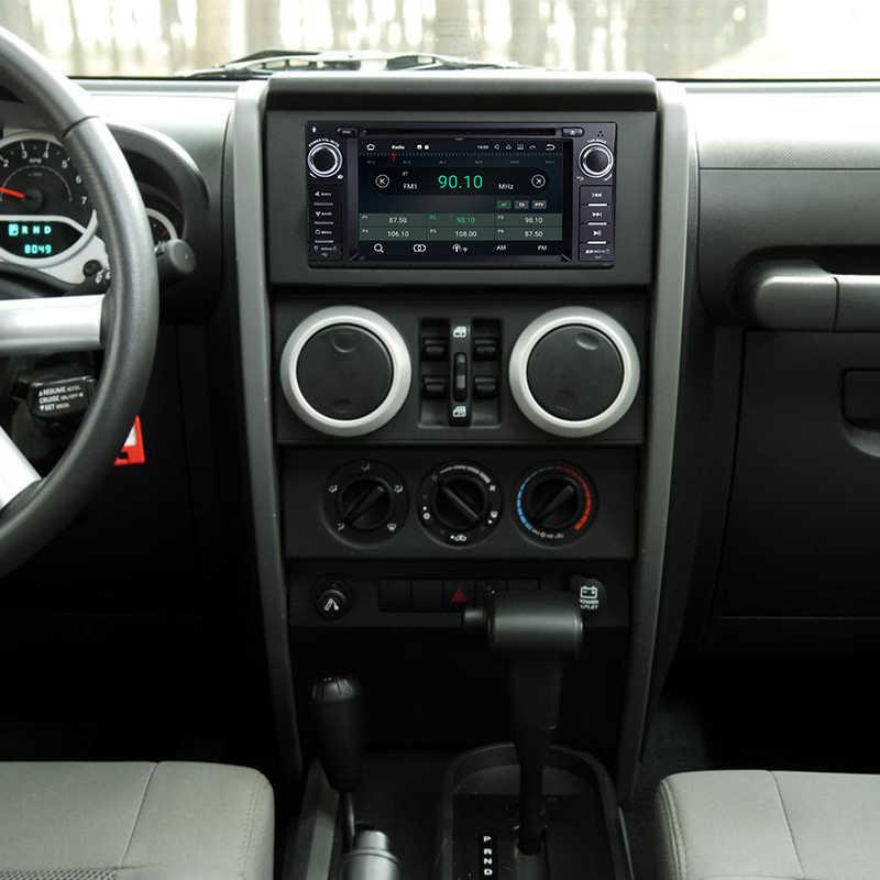Автомобильный стерео Android 8,0 gps Navi Bluetooth Sat для 07-10 Jeep Wrangler неограниченный OBD Canbus Octa-Core 4 г ram 32 г rom