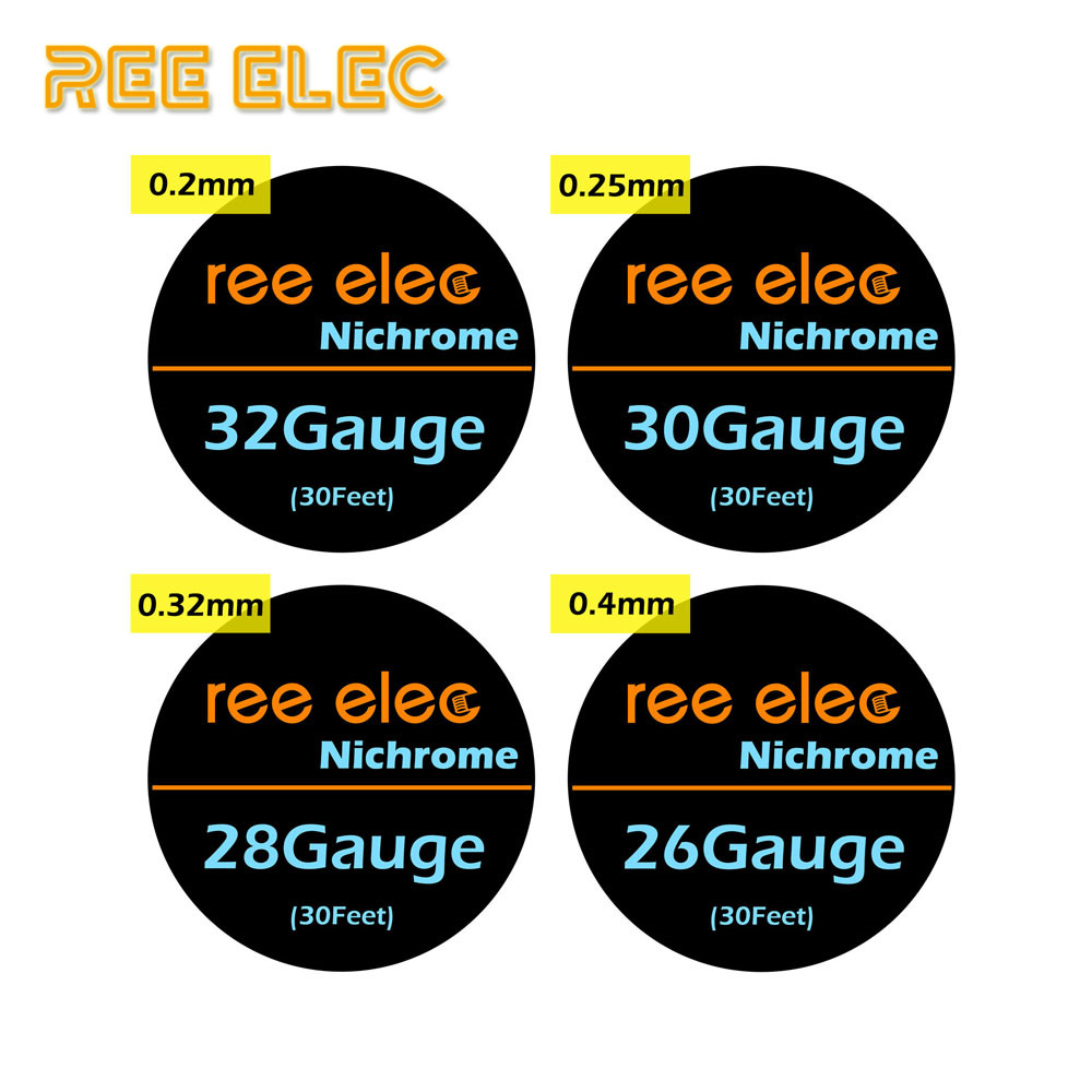 REE ELEC 10m/roll Nichrome Heating Wire For Rda Rta Atomizer Electronic Cigarette Ni80 Resistance Wires Coils Vape Accessorie