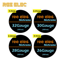 REE ELEC 10m roll Nichrome Heating Wire For Rda Rta Atomizer Electronic Cigarette Ni80 Resistance Wires