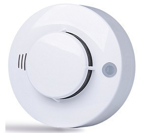 Free shipping Wired smoke detector, 12V smoke sensor,, alarm controller, switch output