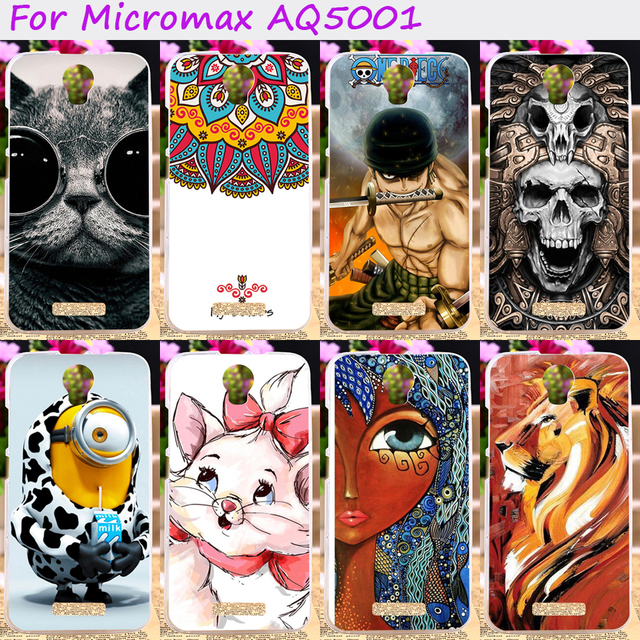 TAOYUNXI Soft TPU Rubber Cool Skull Animal Phone Cases For Micromax Canvas Power AQ5001 Juice 2 AQ5001 AQ 5001 Cover Silicone