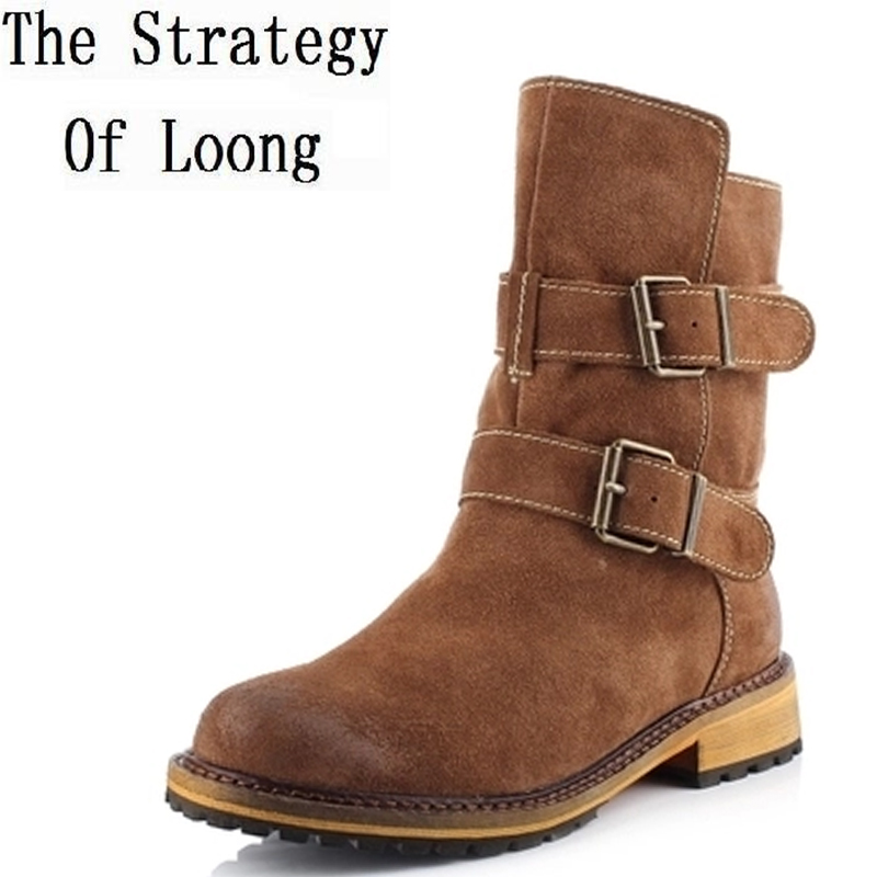 European and American big retro leather boots women 2014 new winter low round belt buckle decorated with Martin boots women14110 evans v dooley j access 4 presentation skills student s book