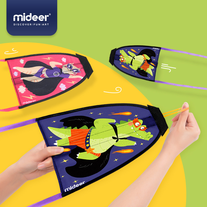 Pleasant To The Palate Mideer Children Portable Kite Cartoon Elastic Catapult Small Kite Flying Toy Outdoor Toy Boy And Girl 3y Toys & Hobbies Outdoor Fun & Sports