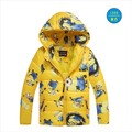 3-9 Years Boys Winter Jacket Cartoon Minions Print Cotton Padded Coat Children's Winter Jackets Hooded Parka Retail Outerwear
