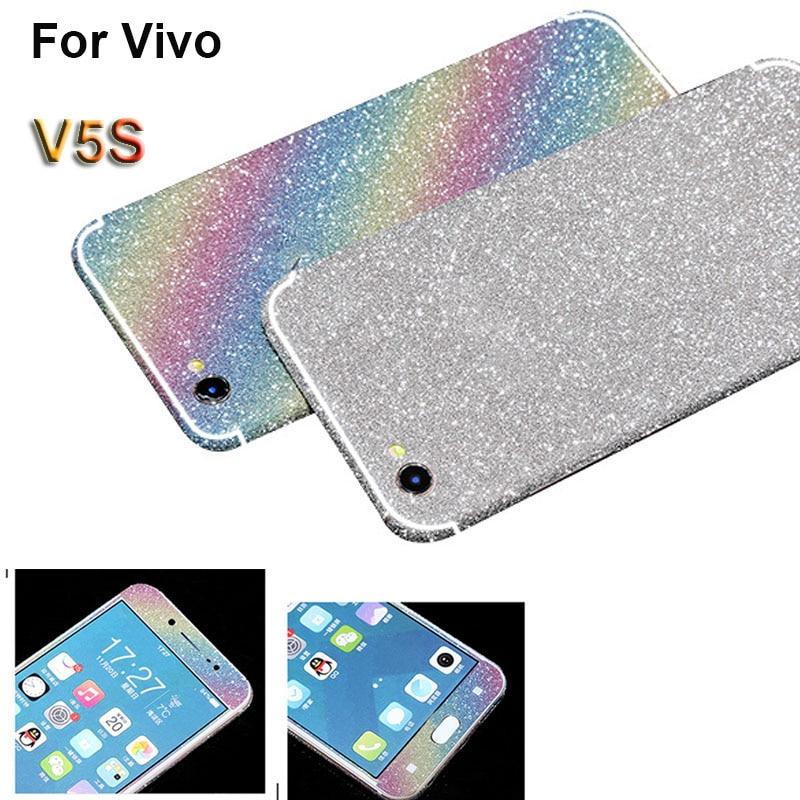 new concept eecba ea823 US $1.89 |For vivo V5S 5.5 Inch Full Body Matte Decals Glitter Diamond  Sticker Bling Protect Cover Screen Protector Film For Vivo V5S 5.5