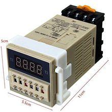 DH48S S AC 220V relé de tiempo SPDT de ciclo de repetición con zócalo serie DH48S 220V S