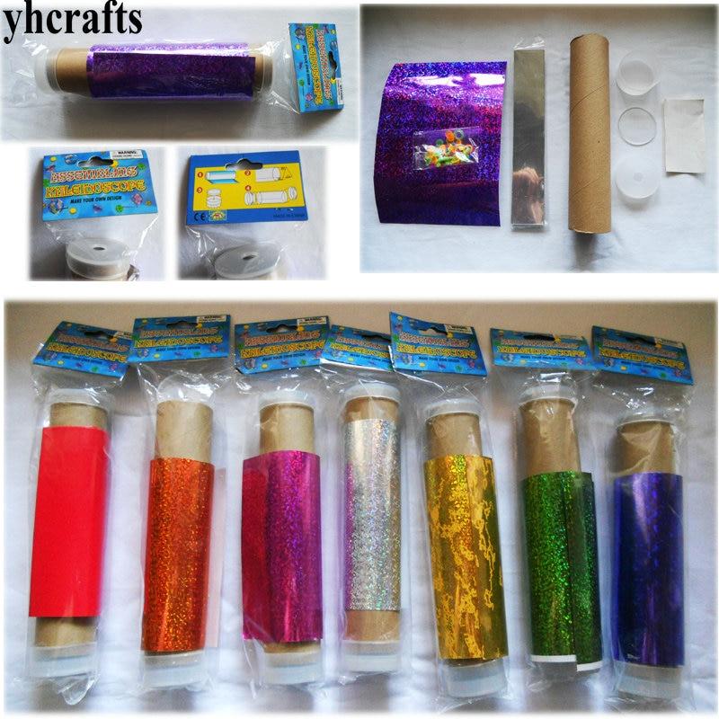 3PCS LOT Make your own kaleidoscope craft kits Assembling kaleidoscope Classic font b toys b font