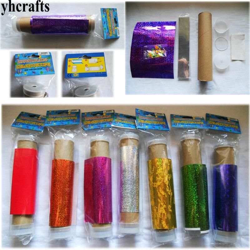 3PCS/LOT.Make your own kaleidoscope craft kits Assembling kaleidoscope Classic toys DIY phantoscope Kindergarten crafts DIY a coordination kaleidoscope