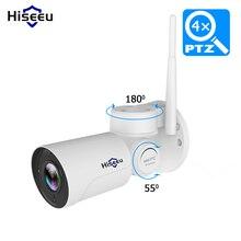 1080 p ip 카메라 와이파이 ptz 4 배 줌 2mp 총알 스피드 돔 cctv 카메라 프로젝트 나이트 비전 야외 방수 ip66 ircut p2p hiseeu