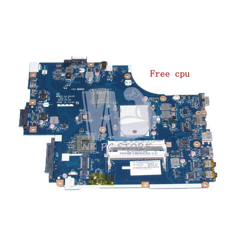 NOKOTION NEW75 LA-5912P MBNA102001 MB.NA102.001 MAIN BOARD For Acer aspire 5551 5551G E640 Laptop Motherboard DDR3 Free CPU nokotion la 5481p laptop motherboard for acer aspire 5516 5517 5532 mbpgy02001 mb pgy02 001 ddr2 free cpu mainboard