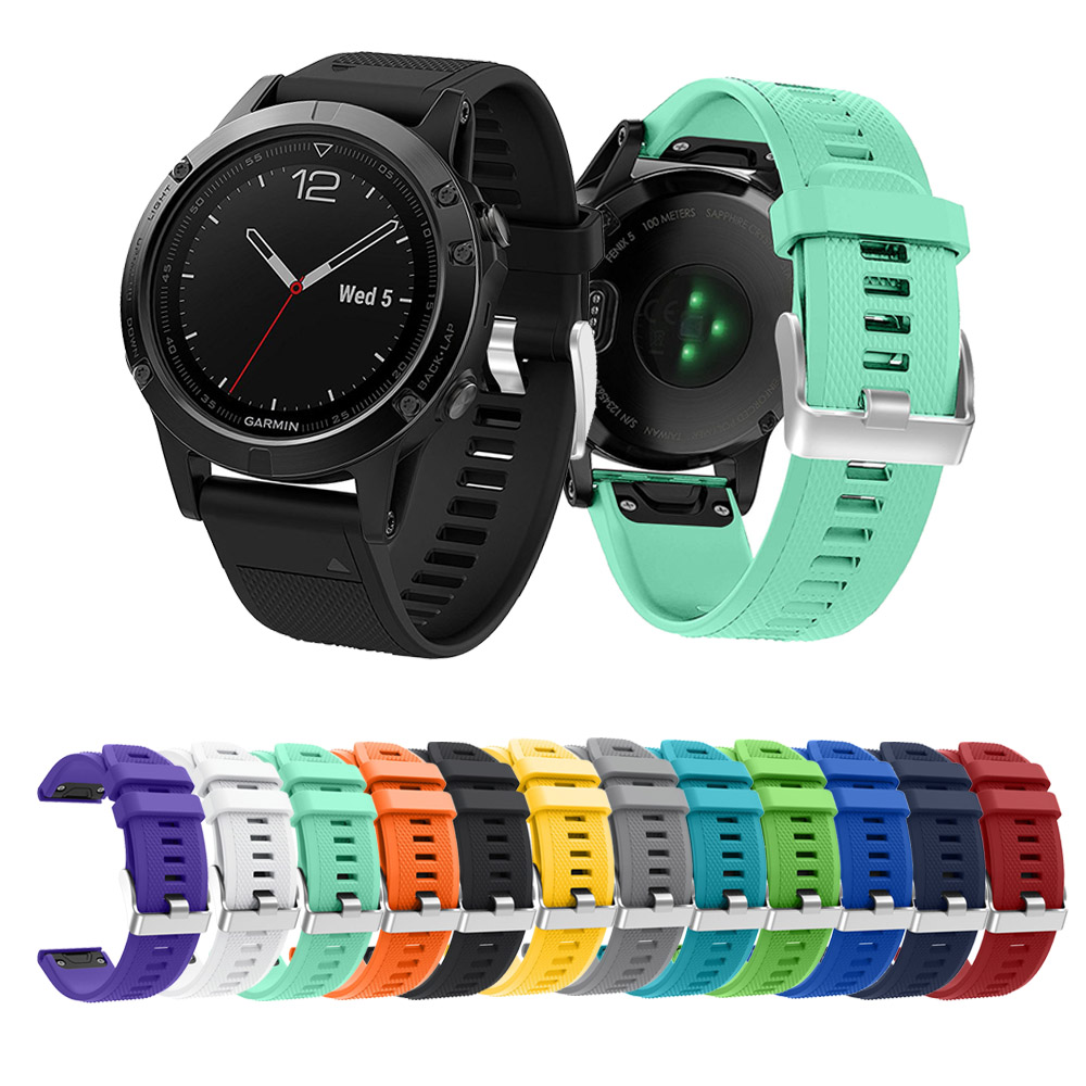 12 Colors Soft Silicone Replacement Wristband Watch Band Bracelet Strap For Garmin Fenix 5 Smart 22mm
