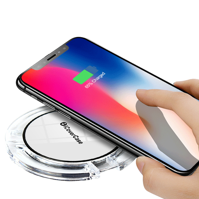detailed look 1b5a7 23822 US $8.84 5% OFF|For iPhone 8 8Plus X Wireless Charger Phone Accessory Mini  Charging Pad Dock Case For Apple iPhone X 10 8 Plus 3 Ports Charger-in ...