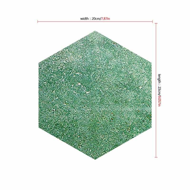5Pcs גיאומטרי משושה 3D אריח מדבקה עמיד למים החלקה קיר מדבקת מטבח אמבטיה QP2