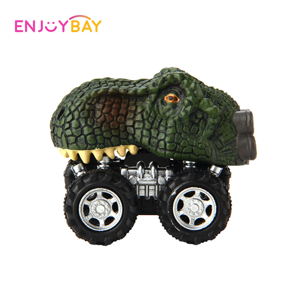 Enjoybay Dinosaur Models Mini Car Toys Plastic Animal Shape Vehicle Wind-up Toy Non Remote Control Cars Funny Toys for Kids