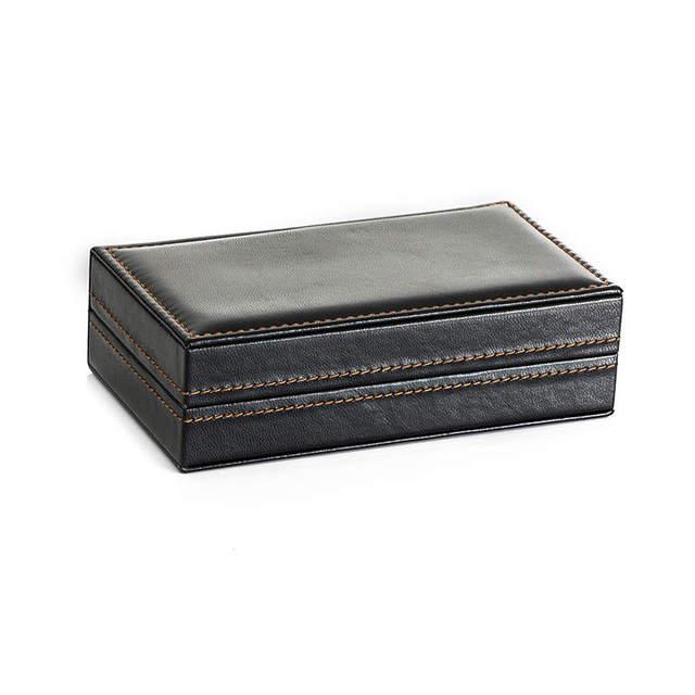 Large Leather Cufflinks Case box