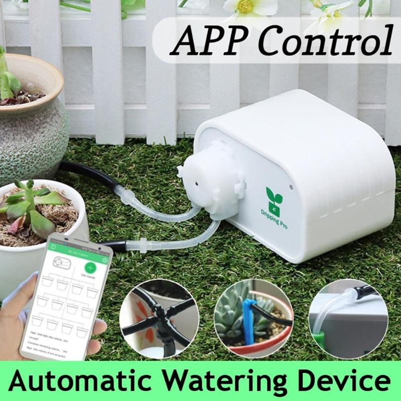 Garden Automatic Watering Device Mobile Phone Control Intelligent Drip Irrigation Tool Succulents Plant Watering Timer System-in Watering Kits from Home & Garden