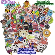 50 Pcs Cartoon Stickers Mixed JDM Style Decor Toy Vinyl Decals Luggage Laptop Skateboard Fridge Snowboard Sticker Accessories