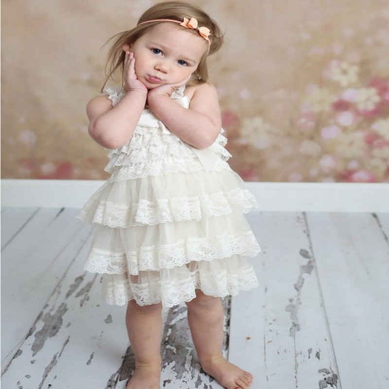 Flower chiffon Princess Newborn Toddler Girls Dress Summer 2017 Christmas Party Tutu Tulle Dresses Clothes For Children Birthday 2017 fashion summer hot sales kid girls princess dress toddler baby party tutu lace bow flower dresses fashion vestido