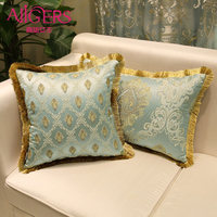 Avigers Luxury Design Cushions European Double Embroidered Tassel Pillowcase Core Geometric Flower Home Decorative Throw Pillows