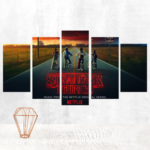 Stranger Things Canvas Painting Poster Posters Paintings on The Wall Triptych Obrazy Thomas Kinkade Prints Art