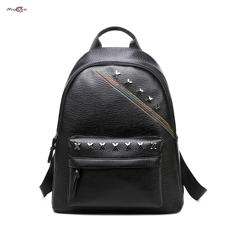 Moccen Fashion Cheap Backpack Designer Bags For Women Female Backpacks Young Women Tote Solid Bag Cheap