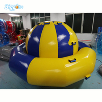 Hot sellig Inflatable floating disco boat for water game