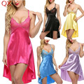 DL3 New 2017 Unpadded sexy lingerie Teddies Costumes sexy underwear Sleepwear Nightdress Sexy Intimates Sexy Gowns 6 Colors