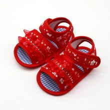 2019 cute baby sandals lace flowe sandals cute sweet baby print shoes baby soft bottom princess toddler shoes(China)