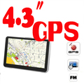 POR DHL OU EMS 100 peças 256 mb 8 gb 4.3 Polegada GPS Navigator 533 MHZ + construído em 4 GB + Free Navitel para A Rússia ou 8/3D mapas + FM